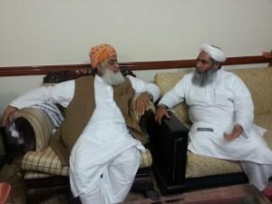 Molana Ilyas Ghuman meets Molana Fazlur Rahman at Islamabad