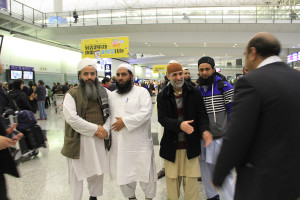 Molana Ilyas Ghuman hon kong airport welcome (1)