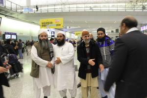 Molana Ilyas Ghuman hon kong airport welcome (1)