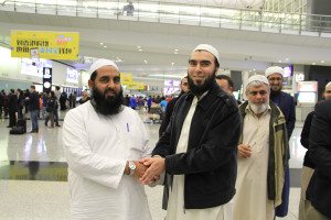 Molana Ilyas Ghuman hon kong airport welcome (7)